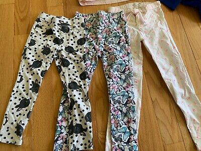 EUC H&M Lot of 3 tregging jeans girls bunny butterfly sailor size 5-6 6-7