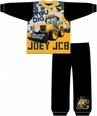 JCB Joey Pyjamas Childrens Kids Toddler Boys PJs Age 18 Months- 5 Years