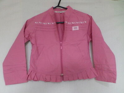 LA COMPAGNIE DES PETITS Girls Pink Ruffle Hem Jacket Size 6 Years
