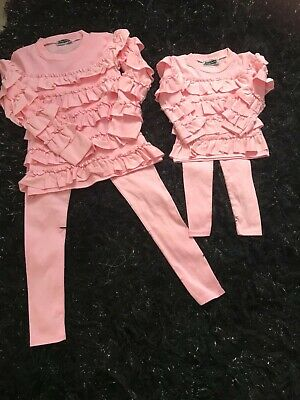 Bnwt girls frilly tracksuit age 6 pink other sizes available