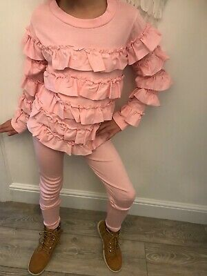 Bnwt girls frilly tracksuit age 8 pink other sizes available
