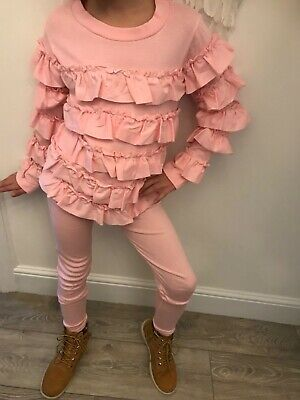 Bnwt girls frilly tracksuit age 13 pink other sizes available