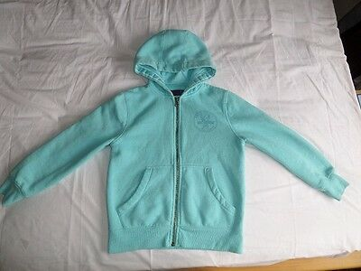 NEXT Kids Unisex Mint Green Long Sleeve Hooded Zip Front Jacket Size 8 Years