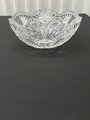 Antique American Brilliant Cut Glass Crystal  Bowl. No - Reserve.