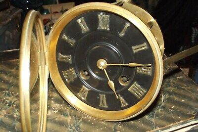 Antique French Clock Movement With Bell