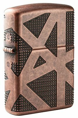 Zippo Armor® Antique Copper Geometric 360 Design Windproof Lighter, 49036
