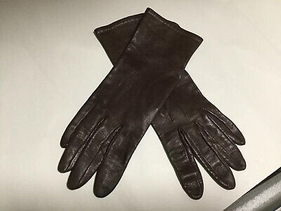 Ladies Fownes Brown Soft Leather Gloves Size 7