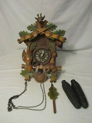 Vintage E. Schmeckenbecher Cuckoo Clock West Germany Black Forest Parts, Repair