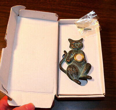 Charming Cat Doorbell Solid Brass New Old Stock Open Box SPI Free Shipping