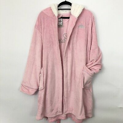 Primark women ladies Princess Crown Fleece Dressing Gown With Hood Size UK 18-20