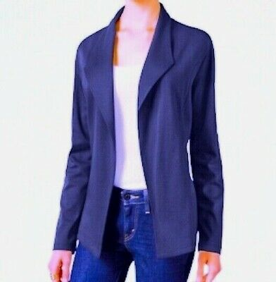 NEW Style & Co Open Front Long Sleeve Knit Blazer Industrial Blue Sz M or L  $59