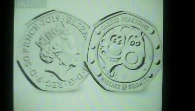 2019 50p COINS WALLACE AND GROMIT 30TH ANNIVERSARY BUNC BRILLIANT UNCIRCULATED r