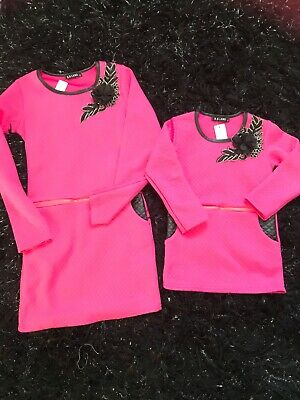 Bnwt girls dress age 10 hot pink last one