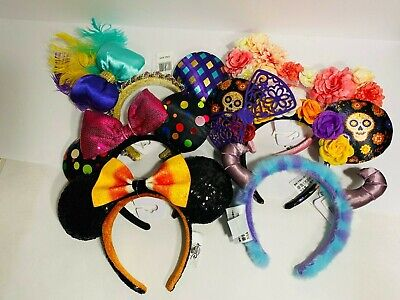 Disney Parks Minnie Ears SET OF 6 LOT Candycorn Coco Sully Mardi Gras Dots NEW