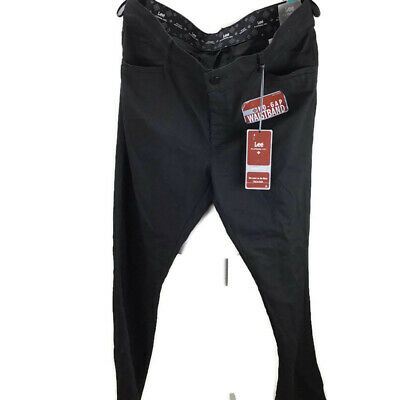 Lee Women Mid Rise Fit Trouser No Gap Waistband Pants Jet Blk Sz 16 Long TE0647