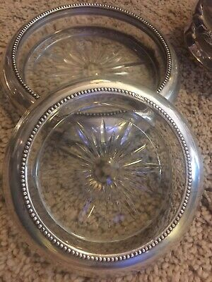 Antique Frank M. Whiting Co. Sterling Silver Rim Coaster Set of 8
