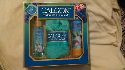 Calgon Morning Glory Fragrance Mist Body Cream Fuzzy Socks Gift Set
