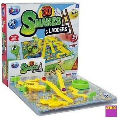 Snakes and Ladders 3D Board Dice Game Traditional Classic Kids Family Gift Toy