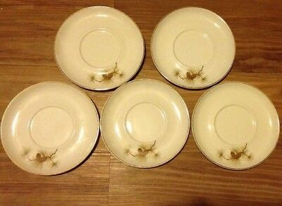 George Pinecone Bread Plates Set Of 4 MINT W.S