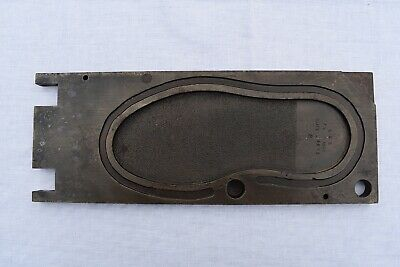 Vintage Steel Shoe Factory PARACORD MOULD (Mold) For ? Neoprene Sole
