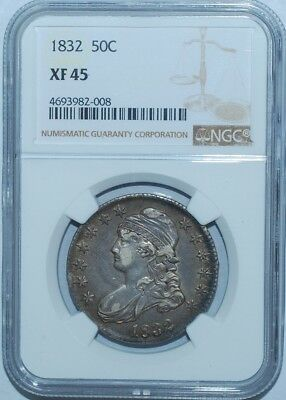 1832 NGC XF45 Small Letters Capped Bust Half Dollar