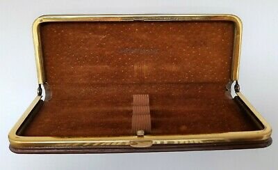 ⭐ Used Vintage 1960's Montblanc Brown Leather Pen Case - Fits 3 Pens ⭐