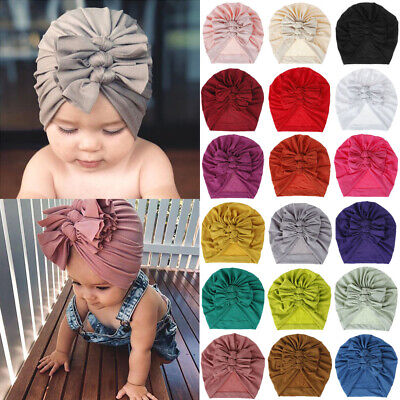 Newborn Headband Hat Cotton baby Infant Turban Knot Headband Head Wrap For SALE-