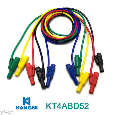 50pcs KT4ABD52 1M Moulded Seal Insulated Stackable 4mm Banana Plug Test Leads