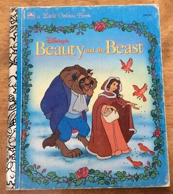 VTG LITTLE GOLDEN BOOK: Walt Disney's Beauty And The Beast, 1991