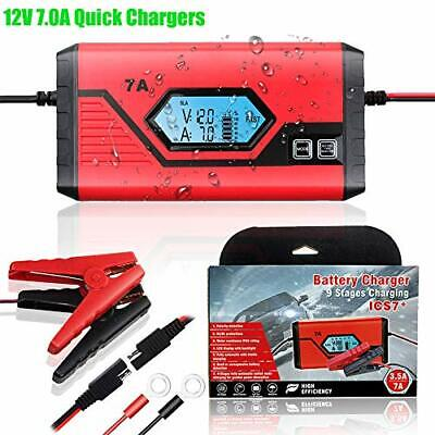 GOOSUO 12V 7A Car Battery Charger, Automatic Trickle Charger & Smart