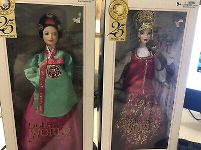 Barbie Dolls Of The World Lot (2) Imperial Russia And Korean Court New