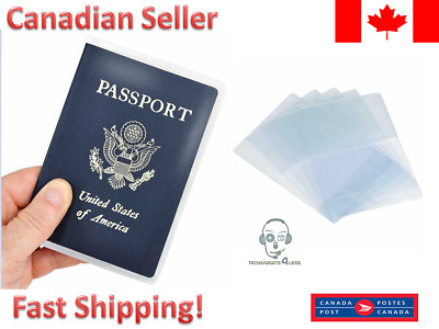 Clear Transparent Travel Business Passport Cover Holder Card Protector