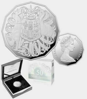 Australia 2019 50 Cent - 50Th Anniversary Twelve Sided Silver Proof Coin - Anda