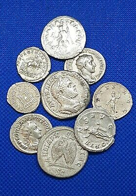 ANCIENT ROMAN SILVER COINS LOT OF 10 MIXED EMPERORS 100% AUTHENTIC 56.70Gr