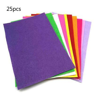 25 Assorted Colors Felt Fabric Sheets Patchwork Sewing DIY Craft Jewely Making i