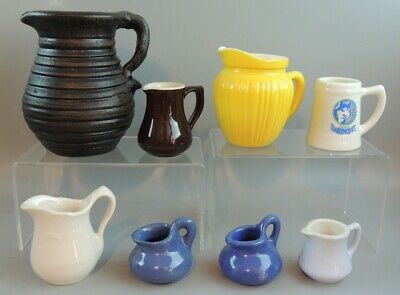 Ceramic and Pottery Pitchers – Lot of 8