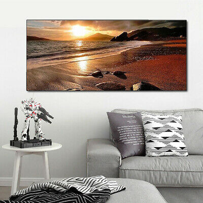 120x50cm Sunset Beach Landscape Canvas Wall Art Picture Print Decor Frameless