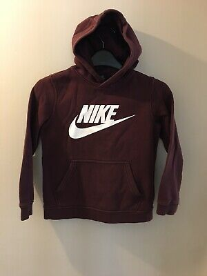 Boys Nike Burgundy Hoodie Age 6-8, Comes Up Small More Age 6, Good Condition