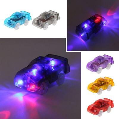LED Light up Car Track Electronic Cars Toy with Flashing Light Gift New f