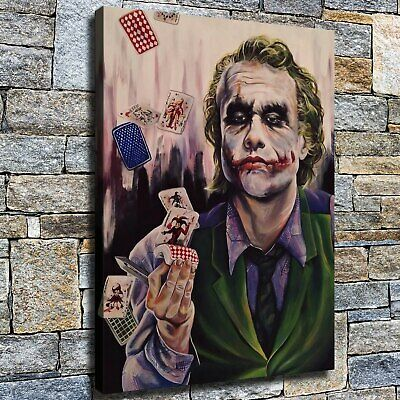"""12""""x16"""" Playing poker clown HD Canvas prints Home Decor Wall art Posters Picture"""