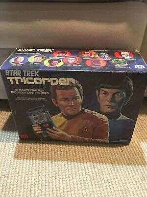Vintage Star Trek Tricorder 1975  by Mego Cassette Tape Player *New In Box*