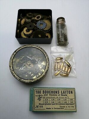 Mixed Lot Of Vintage Clock Parts - Spare Parts for Clock Repair (E1)