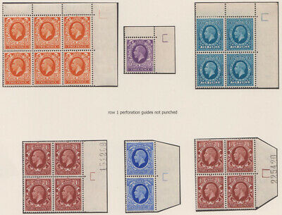 SG448 1934/ 36 Photogravure small format. A fine selection of mint marginal p...