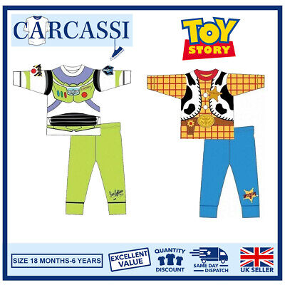 Toy Story Buzz Woody Pyjamas Childrens Kids Boys PJs Age 18 Months- 6 Years