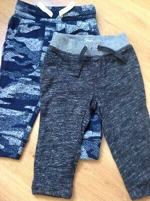 Gap Trousers 2 Pairs Navy Black 12-18 Months
