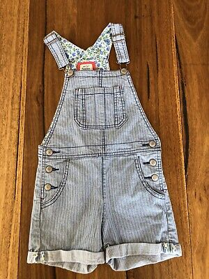 Mini Boden Girls Shorts Dungarees Size 4 Excellent Condition