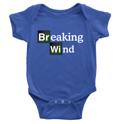 Breaking Dad BR BA Funny Baby Grow Bad Wind Fart Babygrow Rompie New born B39