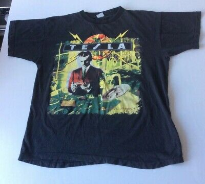 TESLA psychotic Supper 1991 Tour T Shirt def Leppard Aerosmith Rock Reduced