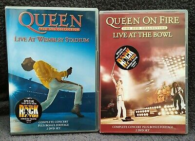 Queen Live At Wembley Stadium & The Bowl DVD 4 discs Hot space and Magic show