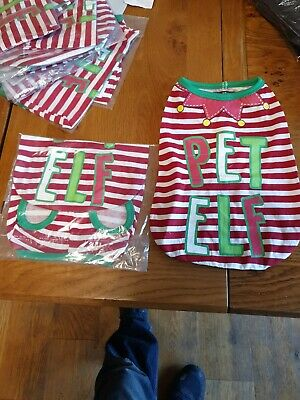 Dog Cat Jumper Puppy Pet Costume Christmas  Elf Soft Clothes Outfit new